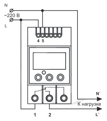 Схема подключения таймера ПТ-2