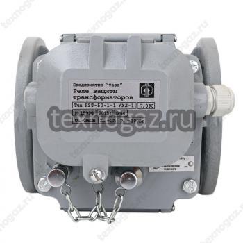 Газовое реле РЗТ-50 - вид спереди