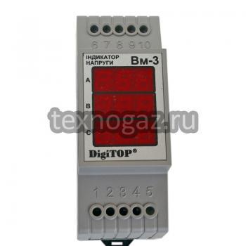 Вольтметр DigiTOP ВМ-3 - вид сверху