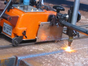 газорежущая машина Смена-2М - пример работы