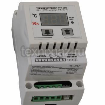 Терморегулятор на DIN-рейку РТУ-16/D - маркировка